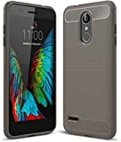 PIXFAB For LG K9 X210 - Grey Carbon Fibre Gel Silicone
