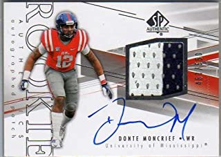 381b4bb1e1a 2014 SP Authentic #213 Donte Moncrief Autograph Jersey Card Serial ...