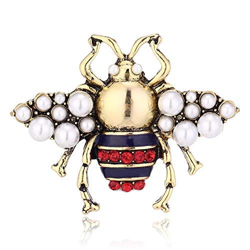 Miss charm Europäische Und Amerikanische Retro-Brosche Aliexpress Explosion Stereo Dreidimensionale Perle Pin Nette Neue Biene Brosche