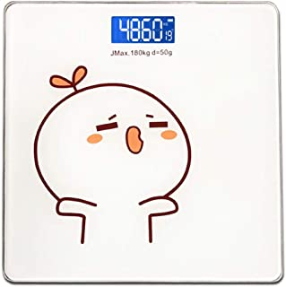 V-OPQ Digital Scale, Cartoon Luminous Electronic Body Fat Smart BMI Scale,Digital Bathroom Wireless Weight Scale,For Bone Mass,Protein,BMR,For Home (Color : Style C, Size : Wireless)