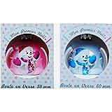 Kugel-Noel Glas Mein erstes Weihnachten–Farbe Rosa–Dekoration Weihnachtsbaum Baby–012