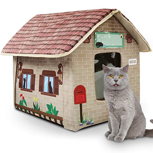 MARUNDA Cat Houses for Outdoor Cats in Winter, Outdoor cat House Weatherproof and Insulated - Easy to Assemble.