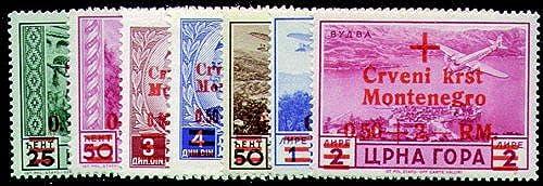 Goldhahn Deutsche Besetzung MonteneGrünr. 29-35 postfrisch Briefmarken für Sammler