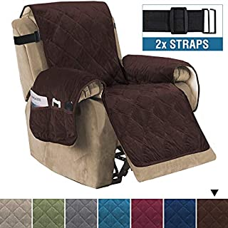 H.VERSAILTEX Recliner Sofa Slipcover Slip Resistant Quilted Velvet Plush Recliner Cover Furniture Protector Seat Width Up to 28