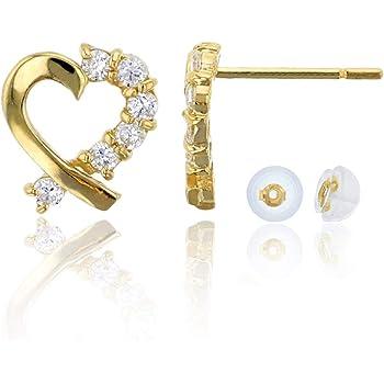 Lex /& Lu 14k White Gold 6mm Circle Puff Post Earrings