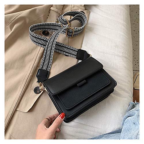 LIUYB Bolso de Hombro Bolsa de Panel para Mujer Bolsa de Hombro Autumn French Vintage Niche Estilo Joker Frosted Color Suave Bolsa de niña (Color : Negro)