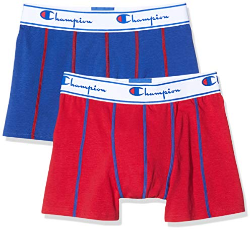 Champion Herren Boxershorts Coton (2er Pack), Mehrfarbig (Rouge/Bleu Royal 8Me), Medium