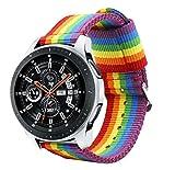 Estuyoya - Bracciale in Nylon compatibile con Samsung Galaxy Watch 3 45mm/ Gear S3 Frontier / Classic Colori di Orgoglio Gay LGBT, larghezza 22mm Stile Sportivo Casual Elegante