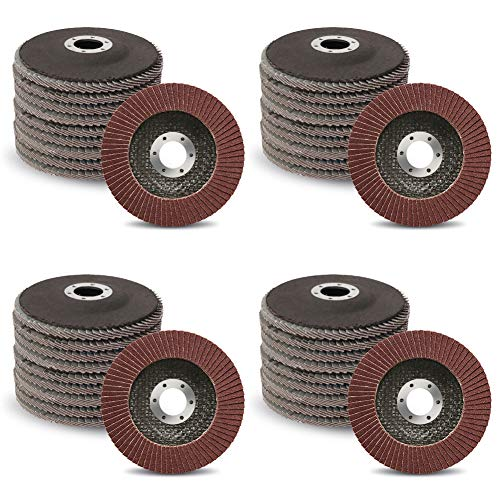 """40-Pack 4-1/2-Inch Flap Discs for Removing Rust and Paint 