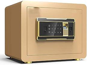 JJYPY Biometric Fingerprint Security Safe Box, Gun Safes for Pistols, Lock Box Cabinets, Solid Steel Safe Strongbox for Mo...