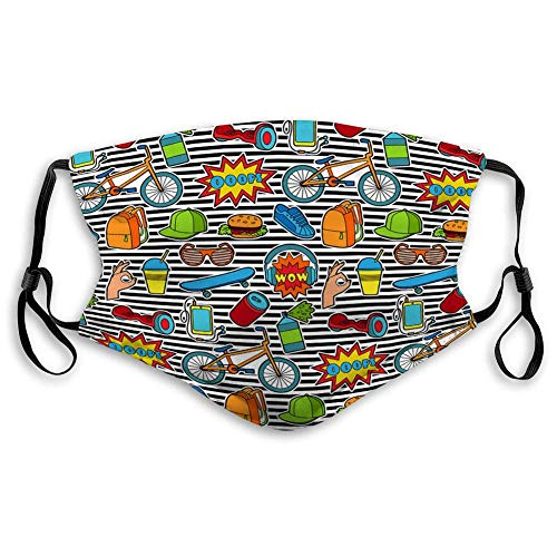 Shield Unisex Mouth Belt Fashion Patch Seamless Pattern Reusable Cover