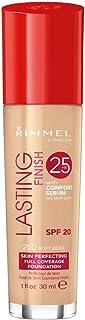 Rimmel London Lasting Finish 25 Hour Foundation with Comfort Serum, 30mL - Soft Beige #200
