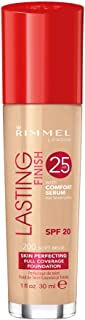 Rimmel Lasting Finish 25 Hour Foundation with Comfort Serum, SPF 20, 200 Soft Beige 30ml