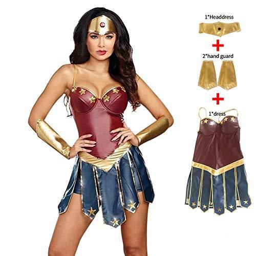 Superhelden Kostüm, Karneval Halloween Kostüm für Frauen Sexy Kleid,XXXL
