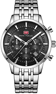 Mini Focus Watch For Men Stainless Steel Silver