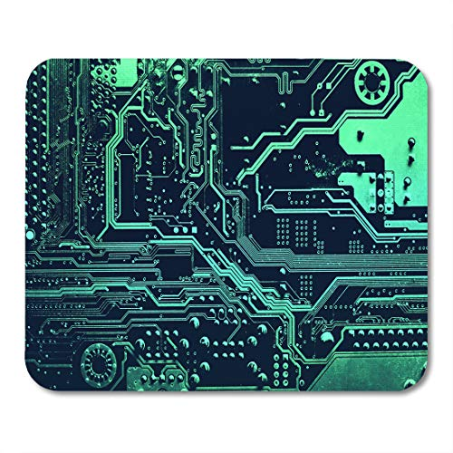 Emvency Mouse Pads Circuit Board Electronic Computer Hardware Technology Motherboard Digital Chip Tech Science Integrated Mousepad 95 x 79 for LaptopDesktop Computers Office Supplies Mouse Mats