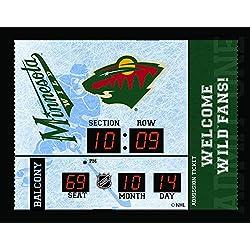 Evergeen Team Sports America Minnesota Wild Bluetooth Scoreboard Wall Clock