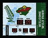 Team Sports America Minnesota Wild Bluetooth Scoreboard Wall Clock
