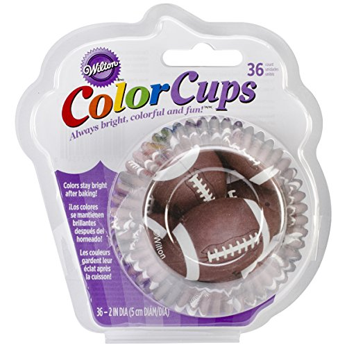Wilton 415-213436 Capacillos Color Cups on papel aluminio, decoracion futbol ( 5 cm)