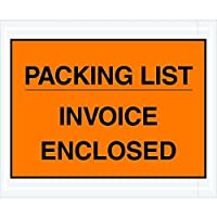 Ship Now Supply SNPL417 Packing List/Invoice Enclosed Envelopes 4 1/2 x 5 1/2 5width 4.5 Length Orange (Pack of 1000) [並行輸入品]
