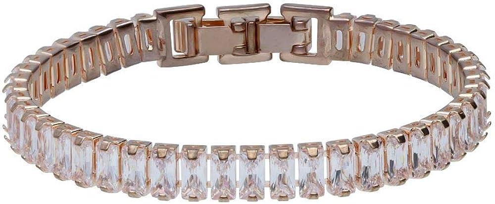 Stroili bracciale per donna choker  strass in metallo rosato 1665954