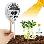 Soil Moisture Meter - 3 in 1 Soil Test Kit Gardening Tools PH, Light & Moisture, Plant Tester Home, Farm, Lawn, Indoor & Outdoor (No Battery Needed)
