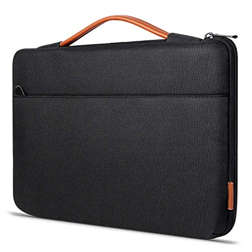 Inateck 14 Inch Laptop Case Sleeve Briefcase, Shock Resistant Bag Compatible with Notebook/Chromebook/ThinkPad/Ultrabook, MacBook Pro 15 Inch 2016-2019, Surface Laptop 3 - Black