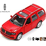 Lincoln Navigator 2017 Diecast Car - 1:46 Scale Metal Model Luxury SUV Red Color - Russian Die-cast Toy Cars