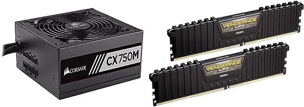 Corsair CX Series 750 Watt 80+ Bronze Certified Modular Power Supply & Vengeance LPX 16GB (2x8GB) DDR4 DRAM 3000MHz C15 De...