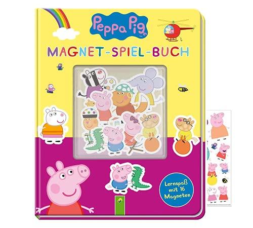 Buchspielbox Peppa Wutz - Set: Magnet-Spiel-Buch + Peppa Pig Sticker