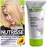 Garnier Nutrisse Ultra Color Hair Color and Anti-Brass Treatment, LB2 Ultra Light Natural Blonde, 2 count