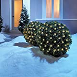 NOMA LED Net Christmas Lights | 100 White Warm Mini Lights | 4 ft x 4 ft Mesh | Indoor & Outdoor