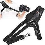 NATEE Kameragurt Schnellverschluss Neopren Schwarz Kamera Tragegurt Schultergurt Gurt für Canon Nikon Sony Fujifilm Olympus DSLR SLR