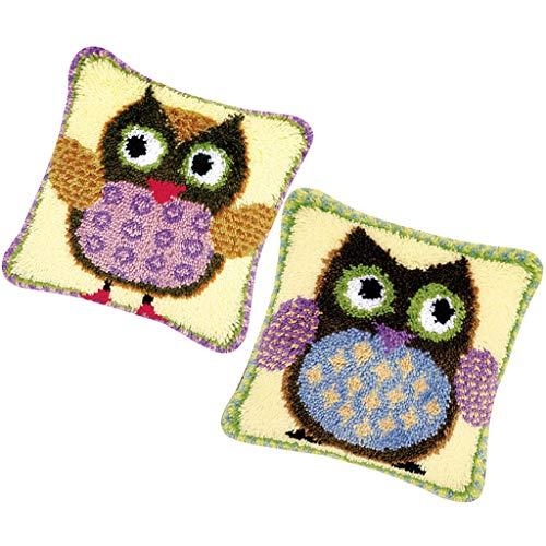 lahomia Juego de 2 kits de ganchos de gancho para bordar accesorios para funda de almohada