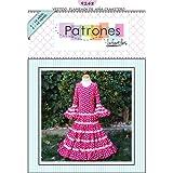 Patrón de costura vestido flamenca Canastero de Niña para hacerlo tú misma. Tutorial en vídeo para ayudarte a realizarlo. Tallas de 1 a 12 años. Patrón multitalla en papel.