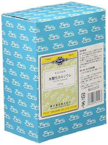 藤井薬品 水酸化カルシウム(食品添加物) 500g