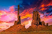 砂漠の岩と夕日のパターン,ジグソーパズル 大人,木製パズル, ジグソーパズル,パズル300ピース
