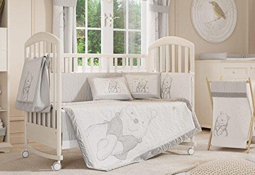 Juego de cama de bebé, diseño gris Winnie the Pooh Collection 4pc de cama de cuna cuna juego de cama