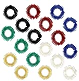 30 Pieces Spiky Sensory Finger Rings, Spiky Finger Ring/Acupressure Ring Set for Teens, Adults, Silent Stress Reducer and Massager (2.5 cm/ 0.98 Inch)