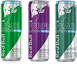 Red Bull Editions Sugar Free Variety Pack - Lime, Acai Berry, Crisp Pear, 12fl.oz. (Pack of 9)