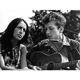 Poster, Motiv: Folksänger Joan Baez Bob Dylan Gitarre,