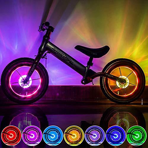 Adaskala Bicicletta LED Luce sensore Intelligente Cambio Colore Automatico USB Ricaricabile Luce per Bicicletta per Bambini, Adatta per Uso Esterno di Notte