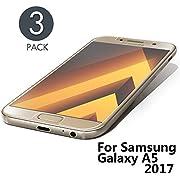 Aribest Samsung Galaxy A5 2017 Panzerglasfolie - 3 Stück, Panzerglas Schutzfolie Für Samsung Galaxy A5 2017,Ultra-Klar 9H Härte, HD Klar, Anti-Öl, Anti-Kratzen, Anti-Bläschen, 3D Touch Kompatibel