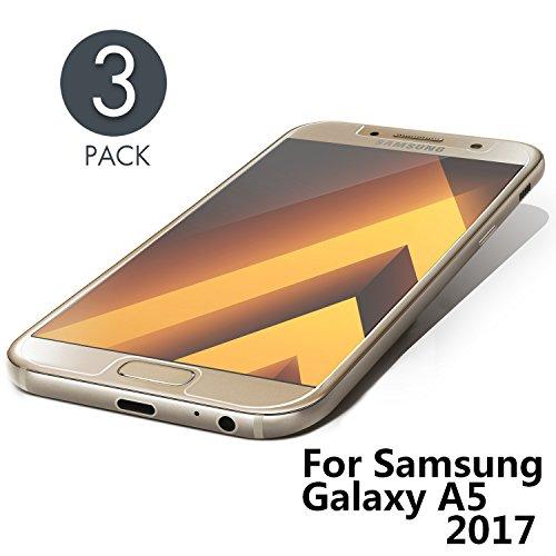 Aribest Galaxy A5 2017 Panzerglas,[3 Stück] Panzerglasfolie Schutzfolie Für Samsung Galaxy A5 2017,Anti-Kratzen/9H Festigkeit/Blasenfrei,Bildschirmschutzfolie für Samsung Galaxy A5 2017