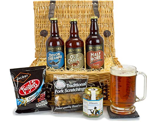 Beer and Bar Snacks Hamper is Perfect for Beer Lovers Everywhere Presented in a Luxury 14inch Double Steamed Willow Basket with Free DELIVERY