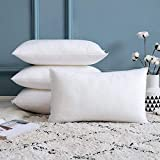 MIULEE Set of 4 Throw Pillow Inserts, Premium Hypoallergenic Throw Pillows Stuffer Decorative Rectangle Sham Pillow Forms for Couch Sofa Bed 12 x 20 Inch