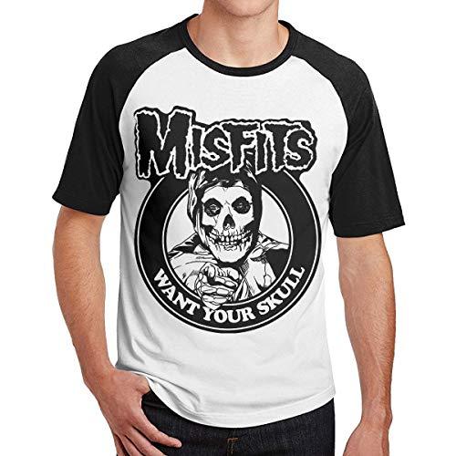Free World Hombre Misfits Want Your Skull Casual Manga Corta