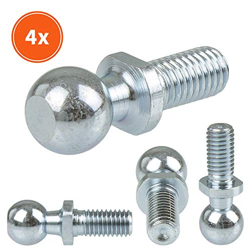 SOLIDfy® - [4x] Kugelzapfen C10 M6 DIN 71803 Form C mit Gewindezapfen verzinkt 10mm