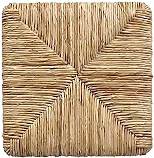 Fondos de paja trenzada, marco de repuesto para sillas de 37 x 37 cm, asiento de madera