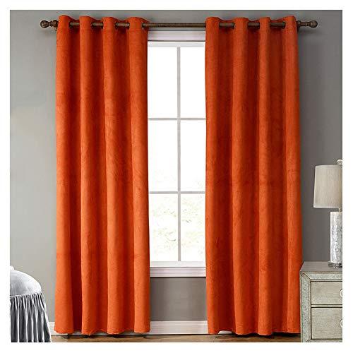 cortinas naranjas dormitorio